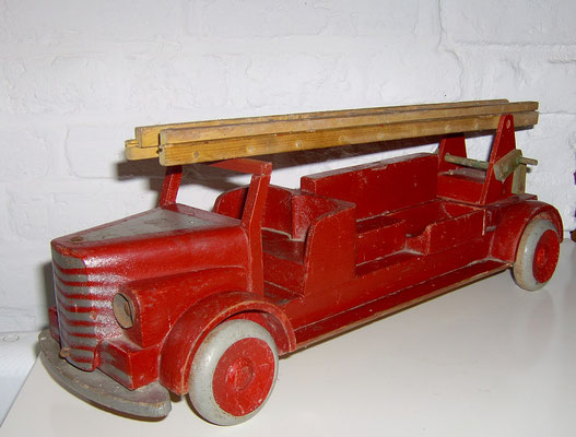 LEGO wood fire truck. Early 1940's