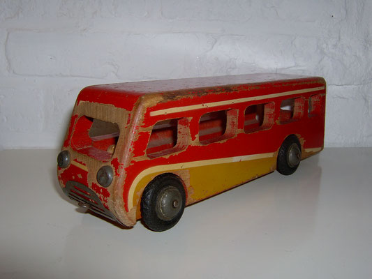 LEGO wood Leaveland bus 1950's