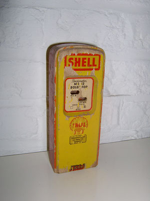 LEGO wood SHELL fuel station 1950's