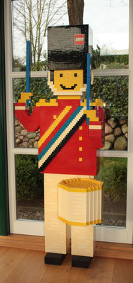 LEGO glued drummer. Shopdisplay. 1980's