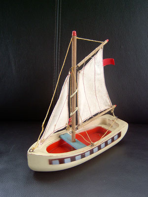 LEGO wood boat 1950's white