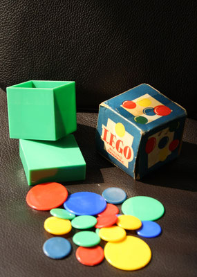 LEGO fled game with box. Extrem rare. Early 1950's