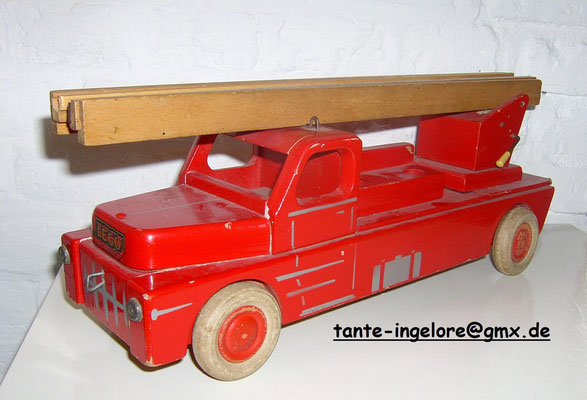 LEGO wood fire truck. Early 1950's