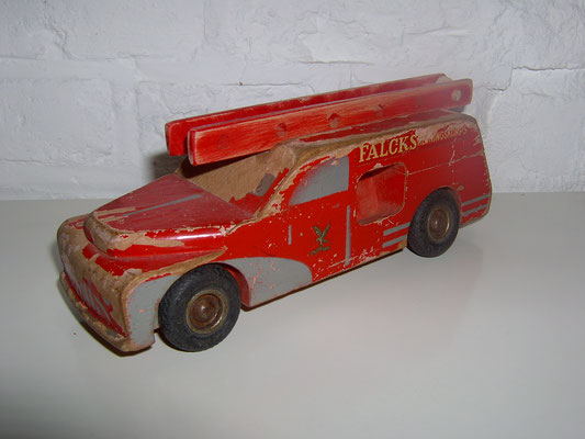 LEGO wood Falck fire truck. 1950's