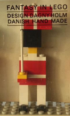 """""""FANTASY IN LEGO"""" Flag bearer guardsmen late 1960's"""