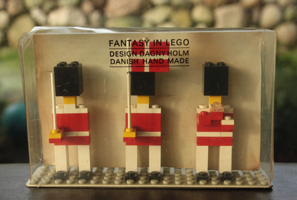 """FANTASY IN LEGO"" 3 TIVOLY GUARDSMEN late 1960's. Present for retailer and vips."