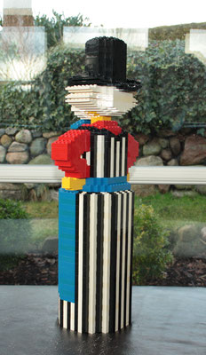 "Bottle holder figure late 1980's. Still no reference, but semilar models in  ""50 år i leg"" anniversary edition of 1982."