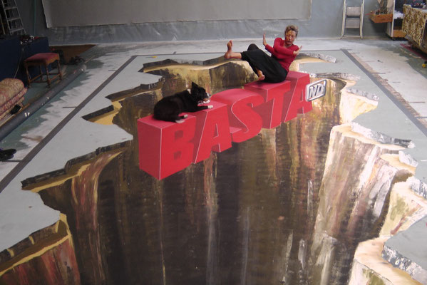 ein Auftrag für BASTA, die österreichische Telekom, hier in Gregors Atelier