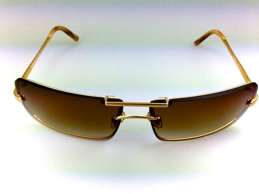 MiuMiu Fassung - Gläser wurden speziell gekerbt um sie einzupassen - Haltebügel oben