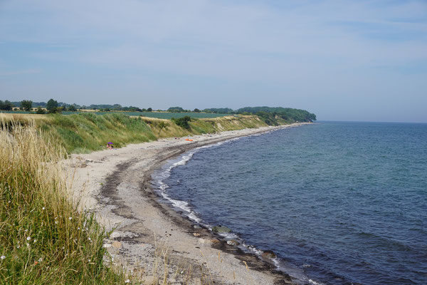 Steilküste und Strand von Klausdorf