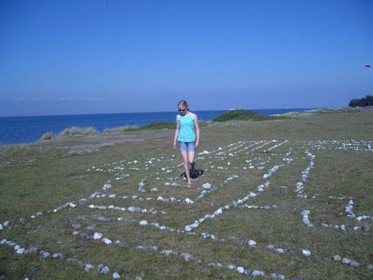 Unser Steinlabyrinth am Strand