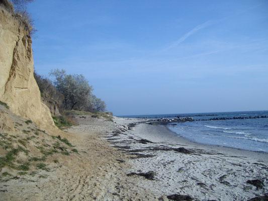 Wulfener Steilküste mit Strand