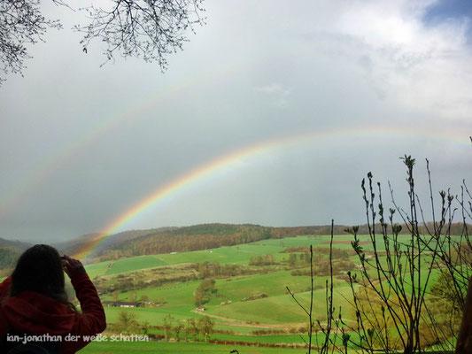 ...und zum Abschluß ein doppelter Regenbogen - mehr konnte ich nicht bieten!!!