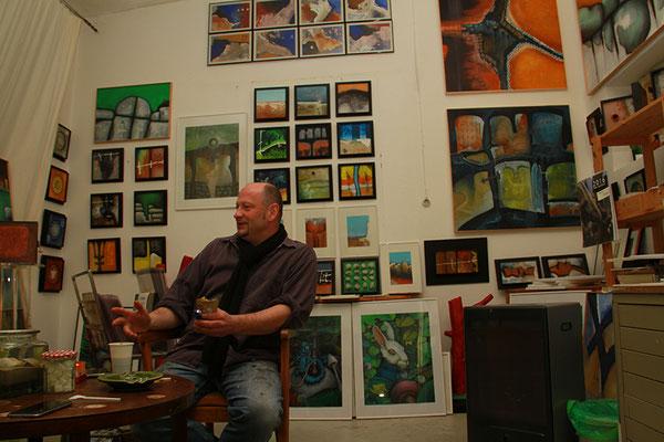 Peter Jaschinski in seinem Atelier