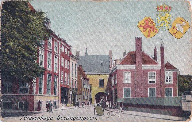 Ansichtkaart Gevangenpoort Den Haag 19