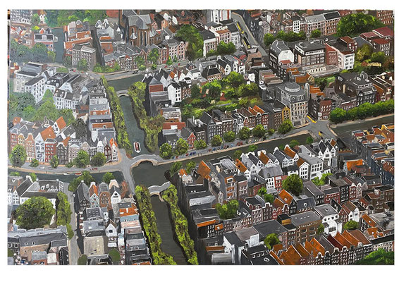 Amsterdam, olieverf, 100x150 cm
