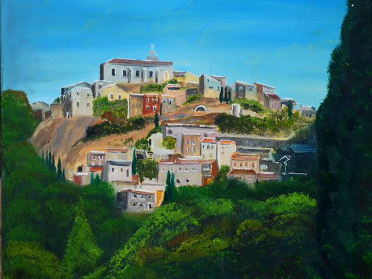 Provence, olieverf, 50x60cm