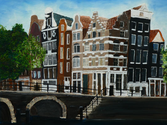 Amsterdam, olieverf, 40x50cm