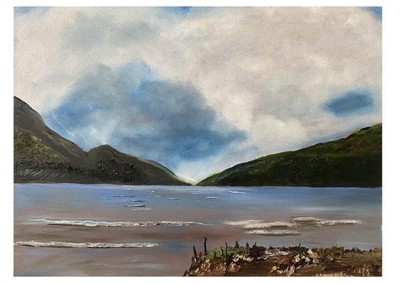 Schotland, olieverf, 90x110 cm