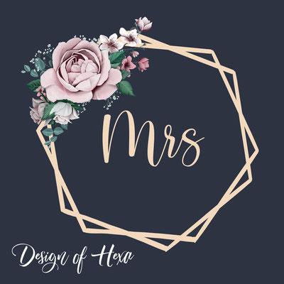 hexagon met bloemen