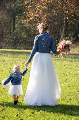 dochtertje als bruidsmeisje