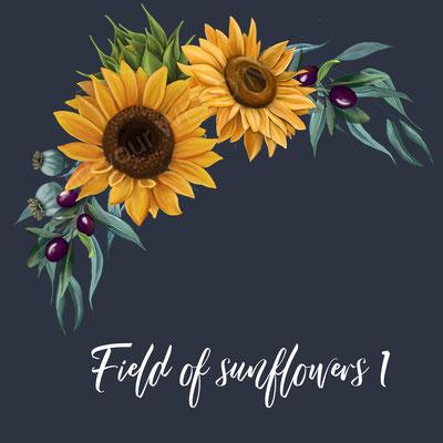 zonnebloemen in bruidsboeket