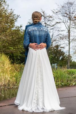kort spijkerjasje bruid