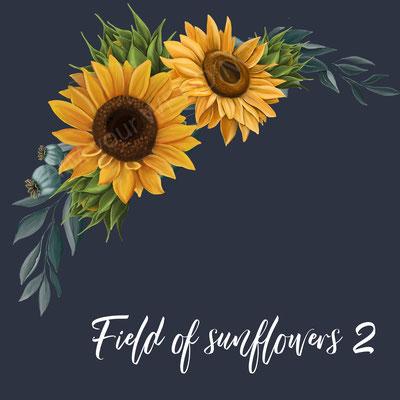 zonnebloemen op spijkerjasje