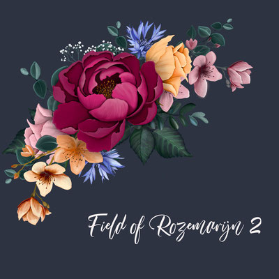 fel gekleurde bloemen in bruidsboeket