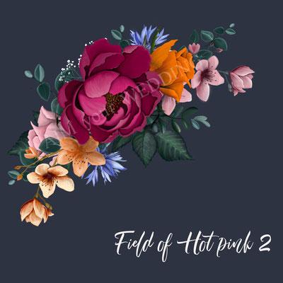 felle rozen op jasje