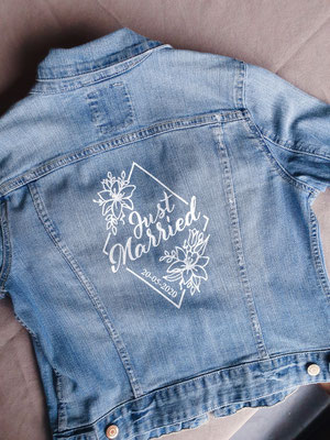bedrukt spijkerjasje jeansjasje aim your wedding