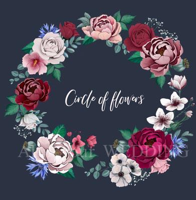 cirkel van bloemen