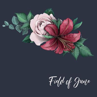 lelie met roos gecombineerd