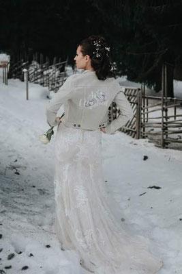 bedrukt katoenen jasje aim your wedding