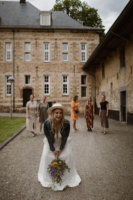 trouwen op kasteel in countrystijl