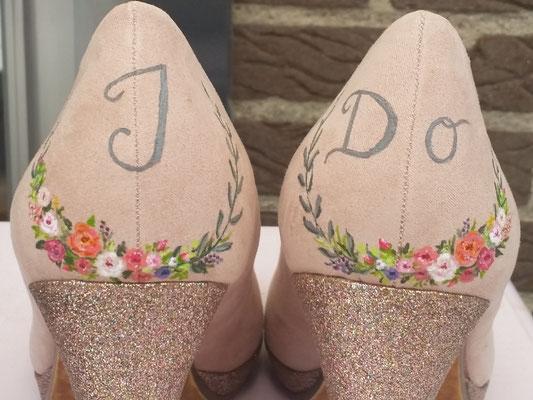 aim your wedding pumps