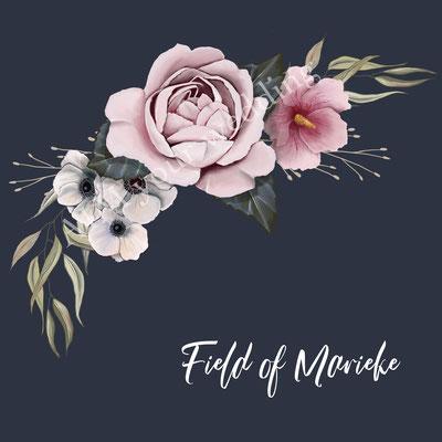 bloemen op trouwjasje