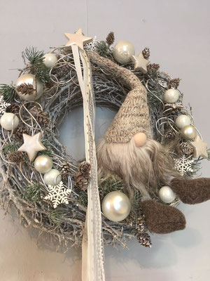 Weihnachts-Türschmuck Wichtel