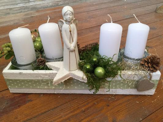 Adventskranz länglich mit Engel