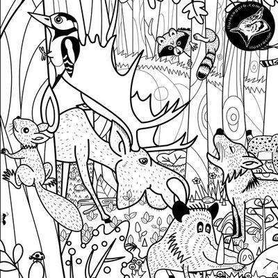 """Detalle ilustración de """"El Bosque"""""""