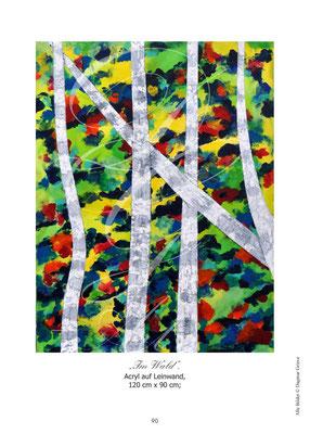 """Im Wald"" Acryl auf Leinwand"