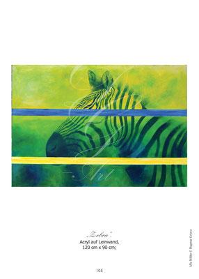 """""""Zebra"""" Acryl auf Leinwand"""