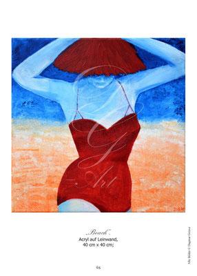 """""""Beach"""" Acryl auf Leinwand"""