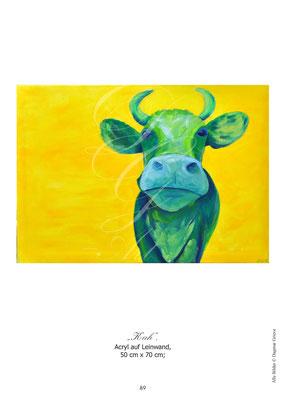 """Kuh"" Acryl auf Leinwand"