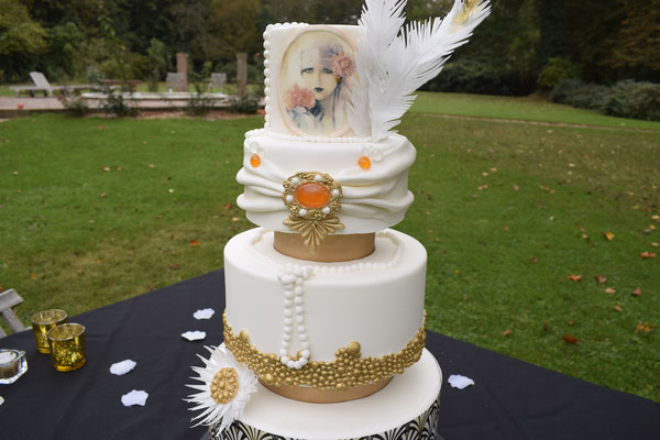 20er Jahre Wedding Shooting - Hochzeitstorte
