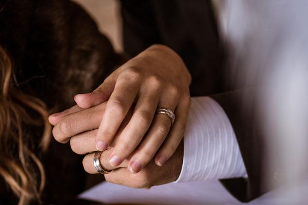 20er Jahre Wedding Shooting - Standesamtliche Trauung - Trauringe
