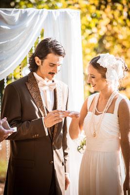 20er Jahre Wedding Shooting - Zeremonie