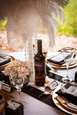 20er Jahre Wedding Shooting - Standesamtliche Trauung - Hochzeitstisch