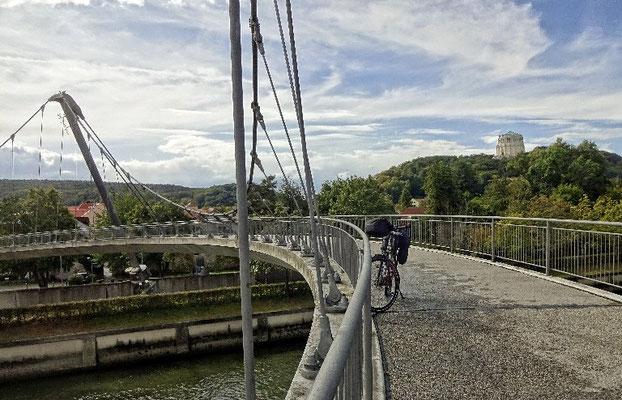 Radbrücke über den Main Donau Kanal
