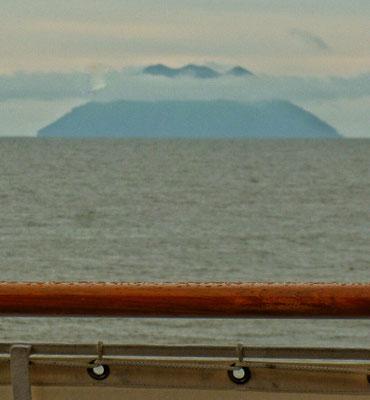 Sepik Vulkan in der Ferne